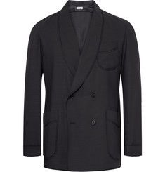 CamoshitaSlim-Fit Double-Breasted Wool-Blend Blazer