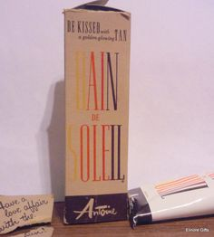 "vintage Bain De Soleil orange gelee ""for the St. Tropez tan""  This was the BEST SUNTAN LOTION!!!! WHY DONT THEY STILL MAKE IT<<< IT WASNT CHEAP EITHER!!!"