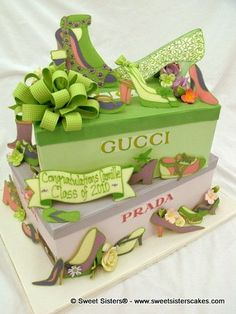 For the love of Gucci, this is the perfect cake for the fashionista of the family.