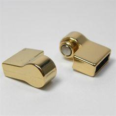 Mostrar detalhes de Fecho imã encaixe latão 30mm dourado