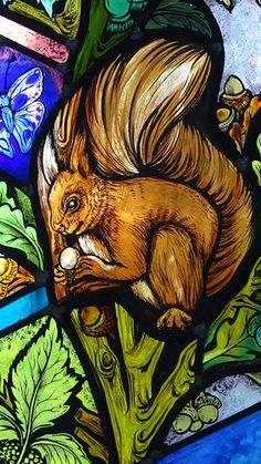 All Saints Church Denmead Hampshire UK stained glass window artist Jude Tarrant 48