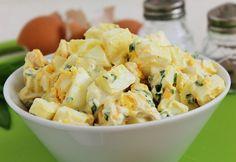 Medvehagymás tojássaláta Potato Salad, Potatoes, Ethnic Recipes, Food, Party, Potato, Essen, Parties, Meals
