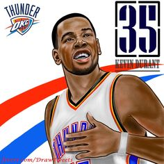 Getting Ready for the Game 7 Golden State Warriors Versus Oklahoma City Thunder - An art piece inspired by Kevin Durant, an American professional basketball player for the Oklahoma City Thunder of the Nba basketball. Durant Nba, Kevin Durant, A Cartoon, Cartoon Drawings, Nba Pictures, Create Drawing, Game 7, Oklahoma City Thunder, Love And Respect