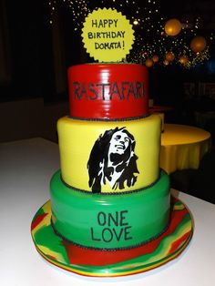 Bob Marley themed birthday cake