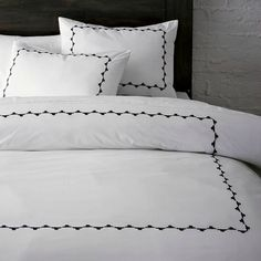 Classic bedding from West Elm   Olivia Pope's bedding from Scandal