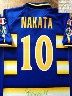 2003 04 Parma Home Serie A Home Football Shirt Nakata  10 (L) fb7d0bcbe