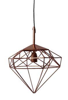 Suspension Diamant S / H 34 cm Cuivre / Small - H 34 cm - Pols Potten - Décoration et mobilier design avec Made in Design