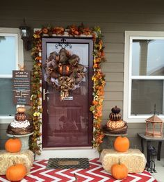Harvest/Fall front porch decoration