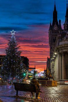 Christmas Sunset in Aberdeen
