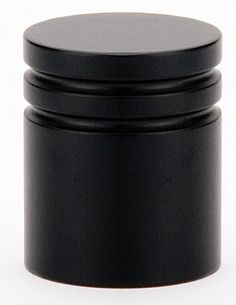 Emtek 86268 Metric 1 Inch Diameter Cylindrical Cabinet Knob From The  Contemporar Flat Black Cabinet Hardware Knobs Cylindrical