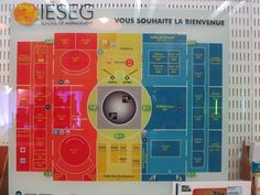 Building map in La Grande Arche (housing many of IESEG's classrooms) @ IESEG School of Management, Paris