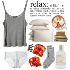 """Relax"" by purite on Polyvore"