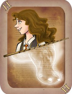 Hermione Granger Playing Card by imaginativeink