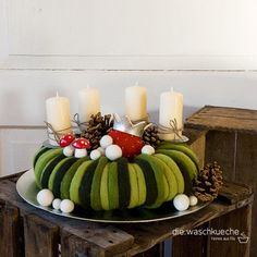 Adventskranz Mit Zapfen Weihnachten Pinterest