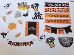 Halloween  stickers For Planner Erin Condren by Sweetiebelles