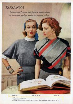 Rosanna Knitted Sportswear 1952 Suzy Parker ®