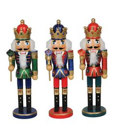 His Majesty Nutcracker Set by Santa's Workshop #zulily #zulilyfinds