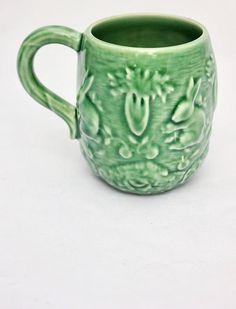 Vintage Bordallo Pinheiro Rabbit and Garden Themed Mug