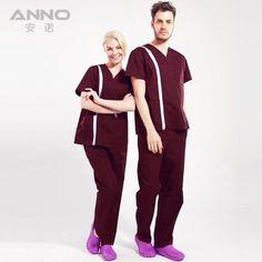 e69dfa0a Professional hospital uniform surgical suit love V-neck nurse doctors  women&men scrub sets with pants