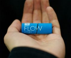 flow yoga creative business card design