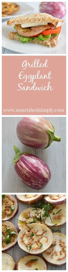 Grilled Eggplant is a great meat substitute. Vegetarian recipe for lunch.