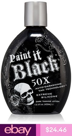 self tanner Millenium Tanning New Paint It Black Auto-darkening Dark Tanning Lotion, Ounce ** You can get additional details at the image link. Best Outdoor Tanning Lotion, Tanning Bed Tips, Best Tanning Oil, Tanning Bed Lotion Best, Tanning Cream, Bronze Tan, Color Bronze, Suntan Lotion, Body Lotion