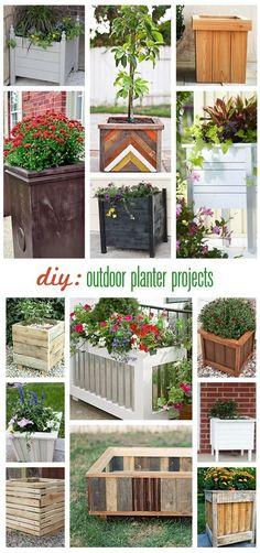 DIY: Outdoor Square Planters diy: porch and patio plantersdiy: porch and patio planters Diy Planters Outdoor, Garden Planters, Outdoor Gardens, Outdoor Decor, Outdoor Living, Outdoor Ideas, Outdoor Jenga, Big Planters, Porch Planter