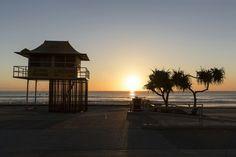 Ocean sunrise at Surfers Paradise #thisisqueensland #surfersparadise #goldcoast #visitqueensland #travel #sunrise