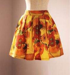 Come back!! FineArt Collection Van Gogh's sunflower skirt by PurpleFishBowl on Etsy https://www.etsy.com/listing/172610945/come-back-fineart-collection-van-goghs