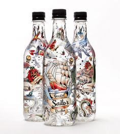 Good ol´Sailor Vodka #organic #packaging #nautic