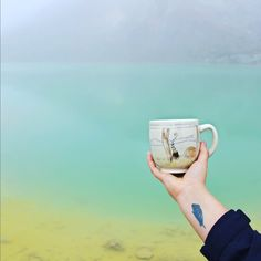 Hiking Tongariro Crossing with this #mugonholiday! Learn how to win this mug on Instagram @lauriecaffery.clay