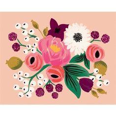 Vintage Blossoms Peach Print