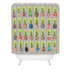 Bianca Green Pineapple Party Shower Curtain | DENY Designs Home Accessories