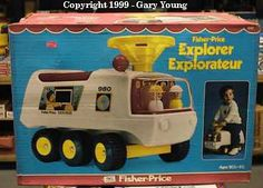 FISHER PRICE:  Explorer   I have a picture of my brother and I riding this one my board somewhere.  Great packaging.
