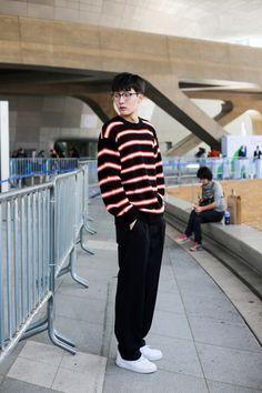 Street style: Ji Won Hyuk shot by Lee Jung Mu at SFW Spring 2017