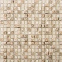 "Emser Tile & Natural Stone: Ceramic and Porcelain Tiles, Mosaics, Glass Tiles, Natural Stone: Lucente Stone Blends Mosaic Stone Blends 5/8""x 5/8"" On 12""x12"" Mesh , Servolo"