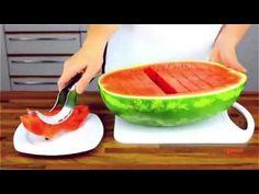 Brilliant watermelon knife. Buy it at http://www.kuglers.com/kitchen/i-genietti-angurello-watermelon-corer-and-server