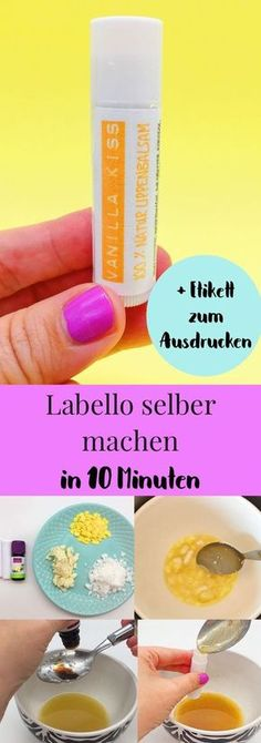 Lippenpflegestift selber machen mit Vanille und Bienenwachs mit Video Nice DIY gift idea: make lip balm yourself. It's so easy to make your own lipstick with vanilla, coconut, shea butter an Peach Lipstick, Natural Lipstick, Diy Beauty Organizer, Make Your Own Lipstick, Belleza Diy, Beauty Recipe, Lip Care, Body Care, Lip Scrubs