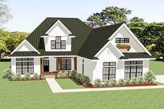 3-Bed Country Craftsman House Plan with Room to Expand - 46331LA | Architectural Designs - House Plans