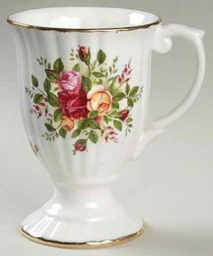 old country roses royal albert   Royal Albert OLD COUNTRY ROSES Footed Fluted Mug   eBay