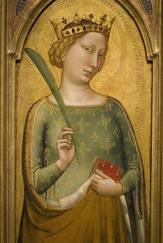 A Crowned Virgin Martyr (St. Catherine of Alexandria), circa 1340 by Maulleigh, via Flickr
