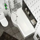 Offset Corner Bath *PRAKTIKA* SPACE SAVER 1500 x 700mm 150 x 70 BATHTUB HEADREST   eBay Small Shower Baths, Small Showers, Royal Bathroom, Modern Bathroom, Space Saver Bath, P Shaped Bath, Bath Screens, Corner Bath, Shower Screen