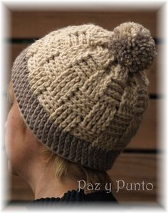 Artículos similares a Gorro crochet lana gorda e4356a5b09ea