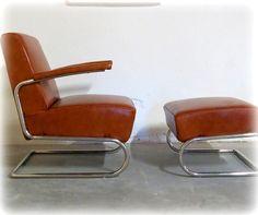 Ridge Leather Lounge Chair Set