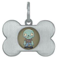 Zombie Cartoon Pet Tag