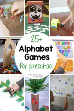 The best way to learn is through play!! Here's a great list of lots of hands-on ways to learn the alphabet. ABC games and alphabet activities are a great way to work on letter recognition, matching lowercase to uppercase letters, phonics, and more! Teaching Abcs, Preschool Writing, Teaching The Alphabet, Preschool Learning Activities, Learning Letters, Abc Learning, Preschool Teachers, Sensory Activities, Kindergarten Classroom