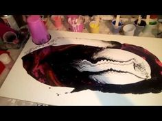 YouTube Alcohol, Acrylic Pouring Art, Fluid Acrylics, Pour Painting, Painting Techniques, Craft Gifts, Art Tutorials, Mixed Media Art, Decoupage