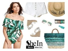 """""""Nice bodysuit"""" by lenaick ❤ liked on Polyvore featuring Hollister Co., Kayu, Charlotte Russe, Gucci, Eugenia Kim and MAC Cosmetics"""