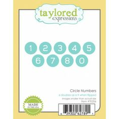 Taylored Expressions - Dies - Circle Numbers