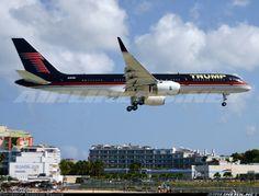 Highlight of the day Mr Donald Trump's 757 arriving early morning from Palm Beach. Trump Boeing 757-2J4  Philipsburg / St. Maarten - Princess Juliana (SXM / TNCM) St. Maarten, March 22, 2014